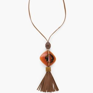 Never worn Chico's Autumn Long Tassle Necklace